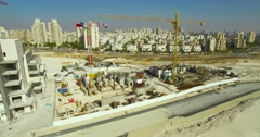 City,  Construction site Stock Footage