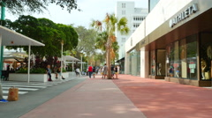 Lincoln Road Miami Beach 3 Stock Footage