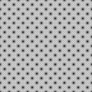 Simple vector seamless black and white background, texture, , floral motif - stock illustration