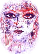 Stock Illustration of Summer girl face