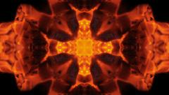 kaleidoscope of Cross Fire - stock footage
