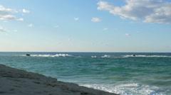 Mediterranean sea, Israel, Tel Aviv, Jaffa Stock Footage