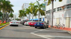 Lincoln Road Miami Beach 6 Stock Footage