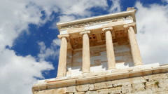 Acropolis, Athens, Greece, Timelapse, zoom out, 4k Stock Footage