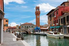 Old town of Murano, Italy Stock Photos
