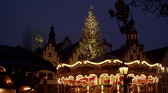 German christmas fair in Frankfurt Stock Footage
