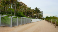 Miami Beach Atlantic Way - stock footage