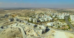 City,Skyline - beer sheva, israel Stock Footage