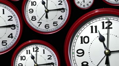 Time lapse clock faces. Stock Footage