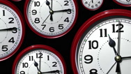 Stock Video Footage of Time lapse clock faces.