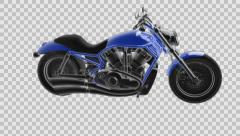 Loop rotate motobike with alpha Stock Footage