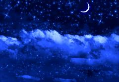 Silent Night Sky - stock photo
