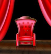 Armchair in the red room Stock Illustration