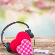 Romantic music concept Stock Photos