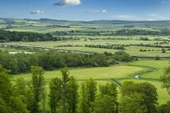 Green and pleasant landscape Stock Photos