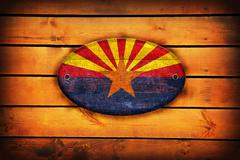 Wooden arizona flag. Stock Illustration