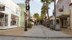 Old streets St Augustine FL 3 Stock Footage
