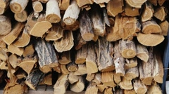 A lot of firewood for the stove Stock Footage