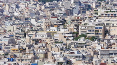 Apartments of Athens, Greece, Timelapse, zoom in, 4k - stock footage