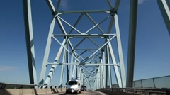 Car Mount Shot Driving over the Rochester-Monaca Bridge Stock Footage