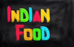 Indian Food Concept Stock Illustration