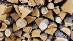 Wood from fruit trees to the smokehouse Stock Footage