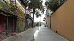 Old streets St Augustine FL 5 Stock Footage