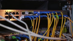 Data servers while working Stock Footage