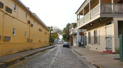Old streets St Augustine FL Stock Footage