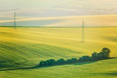 Moravian summer rolling landcsape - stock photo