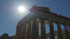 Acropolis, Athens, Greece, Timelapse, zoom in, 4k Stock Footage