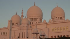 Sheikh Zayed Grand Mosque - Abu Dhabi Stock Footage