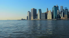 New York City Skyline Manhattan NYC. Stock Footage