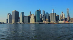 City of New York Skyline Manhattan NYC. United States. Stock Footage