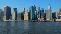 New York Skyline Manhattan NYC. United States. - stock footage