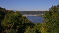Time Lapse Shot of Ohio River and Beaver Bridge on I-376 in Beaver, PA - stock footage