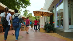 People on Lincoln Road 2 Stock Footage