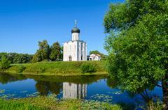 Church of Intercession on Nerl near village Bogolubovo, Russia Stock Photos