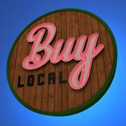 Buy Local Neon Sign - stock illustration