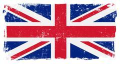 Stock Illustration of UK Briritsh Vector Flag on White