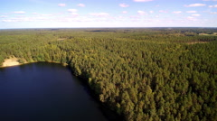 A lake beside the factory in Viitna Estonia Stock Footage