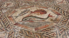 Stock Video Footage of Zoom out: Israeli Antiquities Authority unveiled Byzantine era mosaic floor