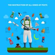 Pest Control Concept Stock Illustration