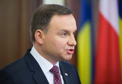 President of the Republic of Poland Andrzej Duda - stock photo