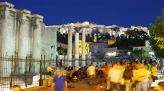 Monastiraki Square, Athens, Greece, Timelapse, zoom in, 4k Stock Footage