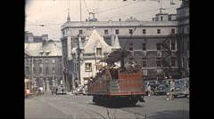 Vintage 16mm film, 1948, Quebec, Quebec city b-roll Stock Footage
