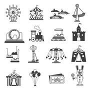 Stock Illustration of Amusement Park Icons