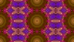 Abstract geometric kaleidoscopic pattern in violet colors Stock Footage