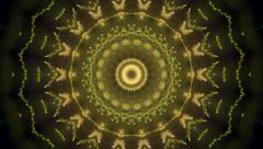 Circle mosaic pattern with stylish fancy orphrey like Christmas tree - stock footage