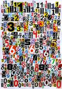 Cut out numbers Stock Photos